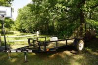 DOWN 2 EARTH 12 FOOT BY 6 FOOT FLATBED TRAILER - BARN