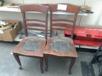 (2) Vintage Wooden Chairs