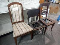 Lot of Misc. Vintage Wooden Chairs