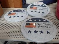 """God Bless America"" Garden Stepping Stones"