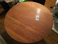 Solid Wood Round Pedestal Dining Table with Classic Empire Feet and Ability to Remove Top