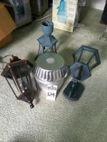 (4) New Outdoor Light Fixtures; (1) REGENT Security Light, (1) KICHLER 3 Light Outdoor Pendant, (1) PRIME Lantern, (1) 3 Light Outdoor Fixture