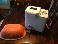 Two (2) Pcs., (1) WEST BEND 2LB Automatic Bread Maker Model #41072, (1) SCHLEMMER TOPF Clay Baker from Germany only One Piece of Two