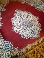 (1) Area Rug Oriental Style Medallion in Center Reds, White, and Blues NOVELLE 50 Acrylic & Polypropylene 7 feet 11 inches x 11 feet 3 inches