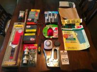 Approximately Twenty (20) Painting Tools, Roller, Sandpaper, Nails, Foam Brushes, Stapler, and More
