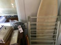 Three (3) Pcs., (1) Expandable Drying Rack Each Wing is 24 Inches, (1) Ironing Board, & (1) Seaming Iron