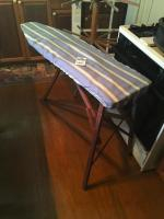 Two (2) Pcs. (1) Wood Ironing Board and (1) Wood Three Tier Drying Rack 68 Inches Tall 14 Inch Arms