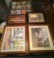 (5) Wall Art Pcs. (1) The Last Supper, (1) Victorian House and Car, (1) Cottage, & (1) Images of Fall