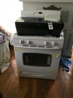 Two (2) Pcs, (1) MAYTAG Gas Stove Model #MLR5755QWQ & (1) KENMORE Range Hood Both look to be in New Condition