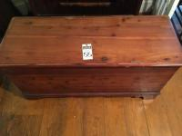 Two (2) Pcs., (1) LANE Locking Cedar Chest, and (1) Cedar Wardrobe