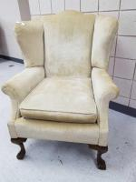 Queen Anne-style Wing Upholstered Chair