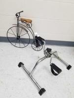 Pedal Exerciser; Metal Bike Decor
