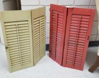 Painted Decorative Wood Shutters