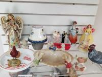 Collection of Angels, Cake Toppers, Ceramic Pieces; misc.