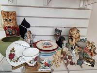 Collection of Plates, Angels, Ceramics, Kitten Decor; misc