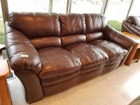 Lazy Boy 3 Cushion Leather Sofa