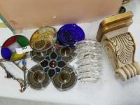 Stained Glass; Glass Coasters; Decorative Shelf; misc