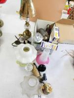 Collection of Lamp Covers; Knobs; Lamps; misc