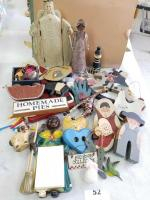 Collection of Wooden Decor; Ceramic Pieces