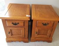 Pair of Broyhill End Tables with Magazine Racks
