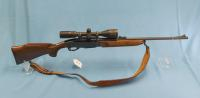 Remington Model 7400 .243 cal & Simmons 4-12 x 42 Expeditian scope, leather sling
