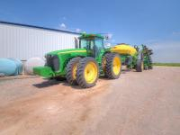 John Deere 8420-MFWD w front & rear duals-Green Star 8596hrs-solid tractor ser. #RW8420PO33218