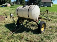 Pull type sprayer with booms