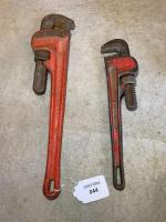 Rigid 18 inch pipe wrench, Fuller 14 inch pipe wrench