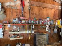 Miscellaneous items on the wall, organizer