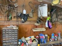 Miscellaneous items on the wall, small organizer
