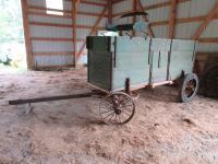 Wooden Box Wagon On Steel