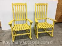 2 Painted wooden Rocking Chairs
