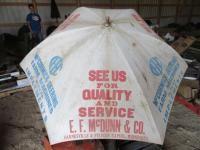 McCormick-Deering Wooden Post Tractor Umbrella