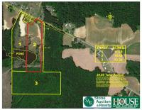 10.48 +/- Acres - 4300 block of Hopkins Road, Middlesex, NC 27557 – with cleared acreage / cropland, pond & 170 +/- feet of highway frontage