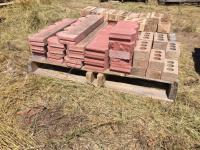 Landscaping Cement Blocks & brick, 2 pallet; two pallets rock and other