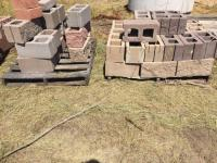 Two pallets landscaping cement blocks