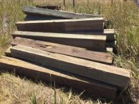 6x8 landscaping treated 6' timbers, approximately 20; small pieces block wood