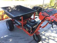 Powerwagon with plastic box and wood box, power dump, electric start