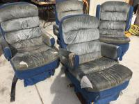 Four captain bucket seats- seats and arms are torn