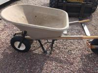 Bentwood 8 cube plastic wheel barrow with two tires
