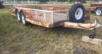1999 White Bumper pull utility trailer, tandem axle, bed 16', mesh sides