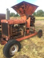 Soil grinder with 6 cyl. Chrysler engine, flat tires, engine free, no battery