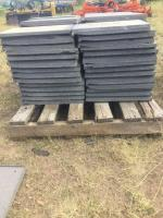 Grey locking roof tile, 17x22 each, approximately 110 tiles