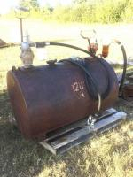 Split Gas tank with two pump, one side was diesel