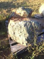 Two large Moss Rocks approximately 36x25x20