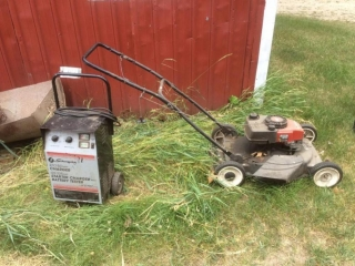 Craftsman Push mower, Schumacher Starter Charger with Battery Tester