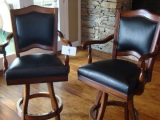 2  Leather Bar Stools 24X48