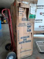 40 gallon gas hot water tank - nib- for mobile home -dolly not included