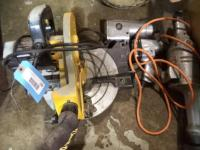 (1) Pro-Tech Miter Box, (1) HD Grinder, (2) Air Impact Wrenches