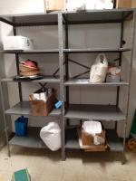 2- metal shelving units - contents not included - 24 x 85 x 36 each